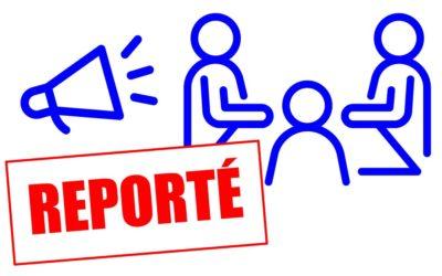 ASSEMBLÉE GÉNÉRALE NATIONALE – REPORTÉE –